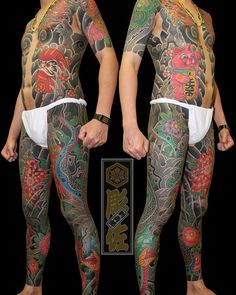 tattoos in japanese prints Japanese Tattoos For Men, Japanese Tattoo Art, Japanese Sleeve Tattoos, Stomach Tattoos, Leg Tattoos, Tattoos For Guys, Mens Body Tattoos, Badass Tattoos, Tattoo T Shirt