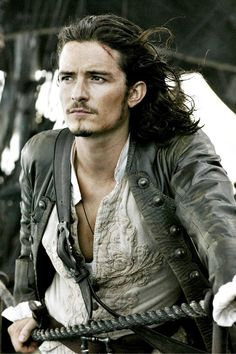 Orlando Bloom in The Pirates of the Caribbean, Elizabethtown, s**t, Everything. He is the male Andie MacDowell.