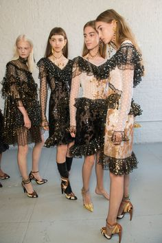 Rodarte at New York Fashion Week Spring 2017 - Backstage Runway Photos