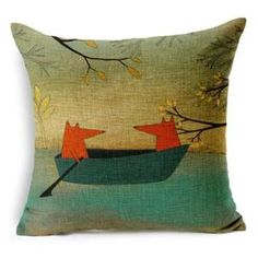 Red Fox Decorative Throw Pillow Cover *FREE SHIPPING* 5 styles. - Woodland Whimsy Shop