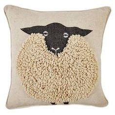 Stylish and modern range of cushions available at Dunelm. Beautiful collection of filled cushions and cushion covers in a range of colours and sizes. Cushions To Make, Scatter Cushions, Applique Cushions, Wool Applique, Wool Pillows, Decorative Throw Pillows, Sheep Fabric, Sewing Crafts, Sewing Projects