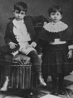 Picasso et sa soeur Lola Giclée-Druck