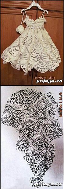 How to DIY Pretty Crochet Girls Sun Hat and Skirt Set |… na Stylowi.pl