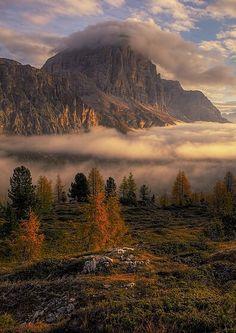""""""" Autumn morning in Passo Falzarego  """""""