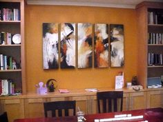 5 piece painting, each is 12x36