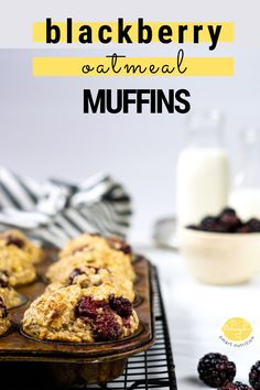 These blackberry oatmeal muffins are simple to make, sweetened mostly with bananas, wholesome for the body, and delicious to eat! Can be made gluten free. #freezerfriendly #muffins #oatmealmuffins #blackberryrecipes #blackberry #muffinrecipes #healthymuffins #healthybanana #oatmealmuffin Blackberry Muffin, Blackberry Recipes, Muffin Recipes, My Recipes, Delicious Breakfast Recipes, Yummy Food, Homemade Waffles, Smart Nutrition, Oatmeal Muffins