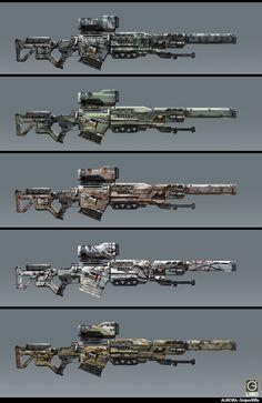 ArtStation - sniper rifle Design for the RISING FIRE, Jay Li