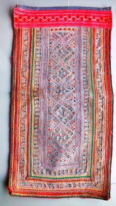 Vintage Hmong Hill Tribal Fabric,