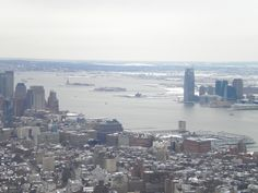 View from the top of the Empire State Building, NYC