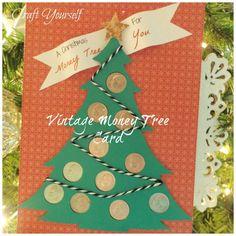 Vintage Christmas money tree dime card - craftyourself.com