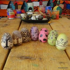 Pyrography Wooden Easter Eggs -  £7.00