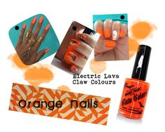 """""""Orange Nails"""" by bluebanana on Polyvore featuring beauty, Albers and Manic Panic"""