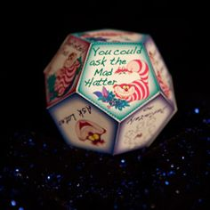 Cheshire Cat's Fortune Teller Craft - Alice in Wonderland party for teen summer reading (underground)