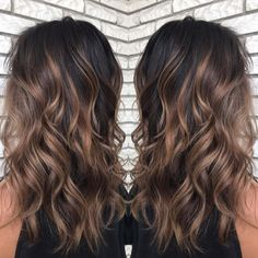 60 Chocolate Brown Hair Color Ideas for Brunettes – Shiny Light Brown Balayage … – dark hair styles Brown Hair Balayage, Brown Blonde Hair, Hair Color For Black Hair, Hair Color Balayage, Brown Hair Colors, Dark Balayage, Black Brown Hair, Haircolor, Bayalage On Black Hair