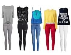 Faction outfits! Abnegation-gray, dauntless-black, erudite-blue ,amity-yellow and red, candor- black and white