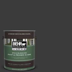 BEHR Premium Plus Ultra 1-gal. #770F-7 Beluga Semi-Gloss Enamel Exterior Paint