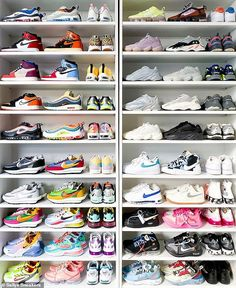 Meet the girl with the coolest sneaker collection in the world – China Cute Sneakers, Girls Sneakers, Sneakers Fashion, Sneakers Nike, Shoe Room, Shoe Closet, Shoe Wardrobe, Nike Air Shoes, Basket Mode