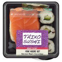 Buy Taiko Sushi Mini Nigiri online from Waitrose today. Low Calorie Salad, Nigiri Sushi, Sushi Set, Salad Bowls, Lunch Box, Mint, Food, Meal, Essen