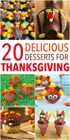 20 of the Best Thanksgiving Fun Food Desserts!