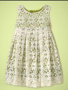 Vestido con encaje de algodón