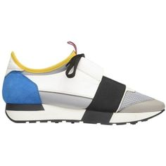 357a7c97eb2 Balenciaga Race Runners ($695) ❤ liked on Polyvore featuring shoes, sneakers,  kirna zabete, shoes /, white trainers, decorating shoes, balenciaga sneakers,  ...