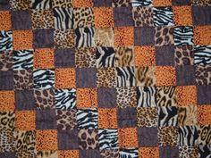 Animal skin print baby quilt