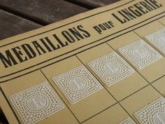 Medaillons pour Lingerie complete sheet with 24 piece monogram initial L laundry label washing mark lace medallions tag by Yebisu on Etsy
