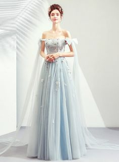 In Stock:Ship in 48 Hours Gray Tulle Appliques Off the Shoulder Prom Dress - In Stock:Ship in 48 Hours Gray Tulle Appliques Off the Shoulder Prom Dress Source by - Clearance Prom Dresses, Prom Dresses For Sale, Prom Dresses Online, Homecoming Dresses, Quinceanera Dresses, Stunning Prom Dresses, Beautiful Gowns, Pretty Dresses, Dress Outfits
