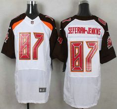 fa54f6573a7 ... Tampa Bay Buccaneers Jersey 87 Austin Seferian-Jenkins White Road NFL  Nike Elite…