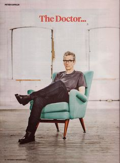 """""""Peter Capaldi - Doctor """" I interviewed Capaldi ages ago--what a gentle, decent, bright fellow. Loved him. - J. Ehrlich"""