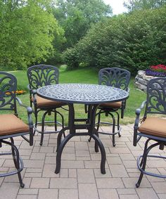 Another great find on #zulily! Antique Black Hampton Five-Piece Outdoor Furniture Set #zulilyfinds