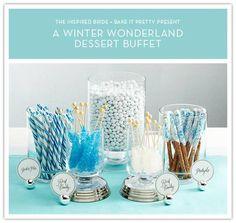 Winter Wonderland Dessert Buffet: Candy Display Photo