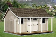 12' X 16' Shed With Porch / Pool House Plans #p81216, Free Material List