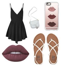 """Date night"" by brookiea on Polyvore featuring beauty, Billabong, Glamorous, Lime Crime and Casetify"