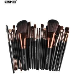 MAANGE 22 Pcs Eye Makeup Brushes Set ($12) ❤ liked on Polyvore featuring beauty products, makeup, makeup tools and makeup brushes