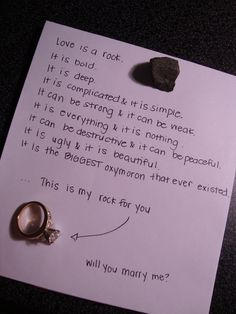 Love love love this very ever so creative proposal