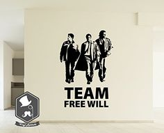 The Supernatural TV Series Inspired Team Free Will Wall Picture Art Decal Sticker for your Home Decor Impovement
