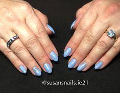 Gel nails - lavender and pink shimmer