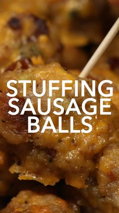Tasty Videos, Food Videos, Food Blogs, Beef Recipes, Cooking Recipes, Stuffing Recipes, Meatball Recipes, Stuffing Balls Recipe, Smoked Sausage Recipes