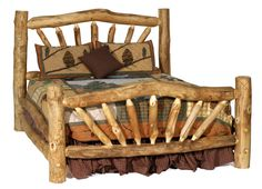 Rustic Timber Bed