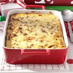Cheesy grits and pork sausage cook up a Southern version of the breakfast casserole recipe perfect for overnight guests and brunch! Breakfast And Brunch, Grits Breakfast, Breakfast Casserole Sausage, Breakfast Dishes, Breakfast Recipes, Breakfast Ideas, Brunch Dishes, Breakfast Cereal, Grits Casserole