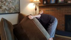 Local Man Frantically Searches Between Couch Cushions For Lost Salvation