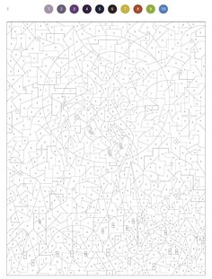Abstract Coloring Pages, Spring Coloring Pages, Mandala Coloring Pages, Free Coloring Pages, Coloring Sheets, Coloring Books, Adult Color By Number, Color By Number Printable, Color By Numbers