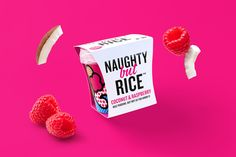 Branding and package design for Naughty But Rice by Leeds based graphic design studio Robot Food