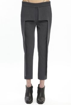 Tailored trousers with structured panels; creative pattern cutting // Rad Hourani