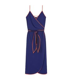 Supposedly this Tory Burch dress is 'navy' and 'red', but it certainly looks close to Mets blue and orange to me!