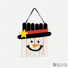 Wooden Snowman Banner Craft Kit- $7.25/12