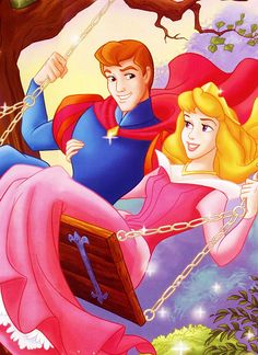 *PRINCE PHILIP & AURORA ~ Sleeping Beauty, 1959