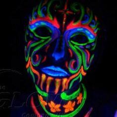 uv face paint!!