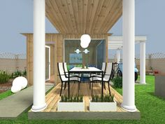 Dining with friends 💛 Outdoor Areas, Outdoor Structures, Lazy Summer Days, Home Design Software, Well Thought Out, Pergola, Yard, Layout, Indoor